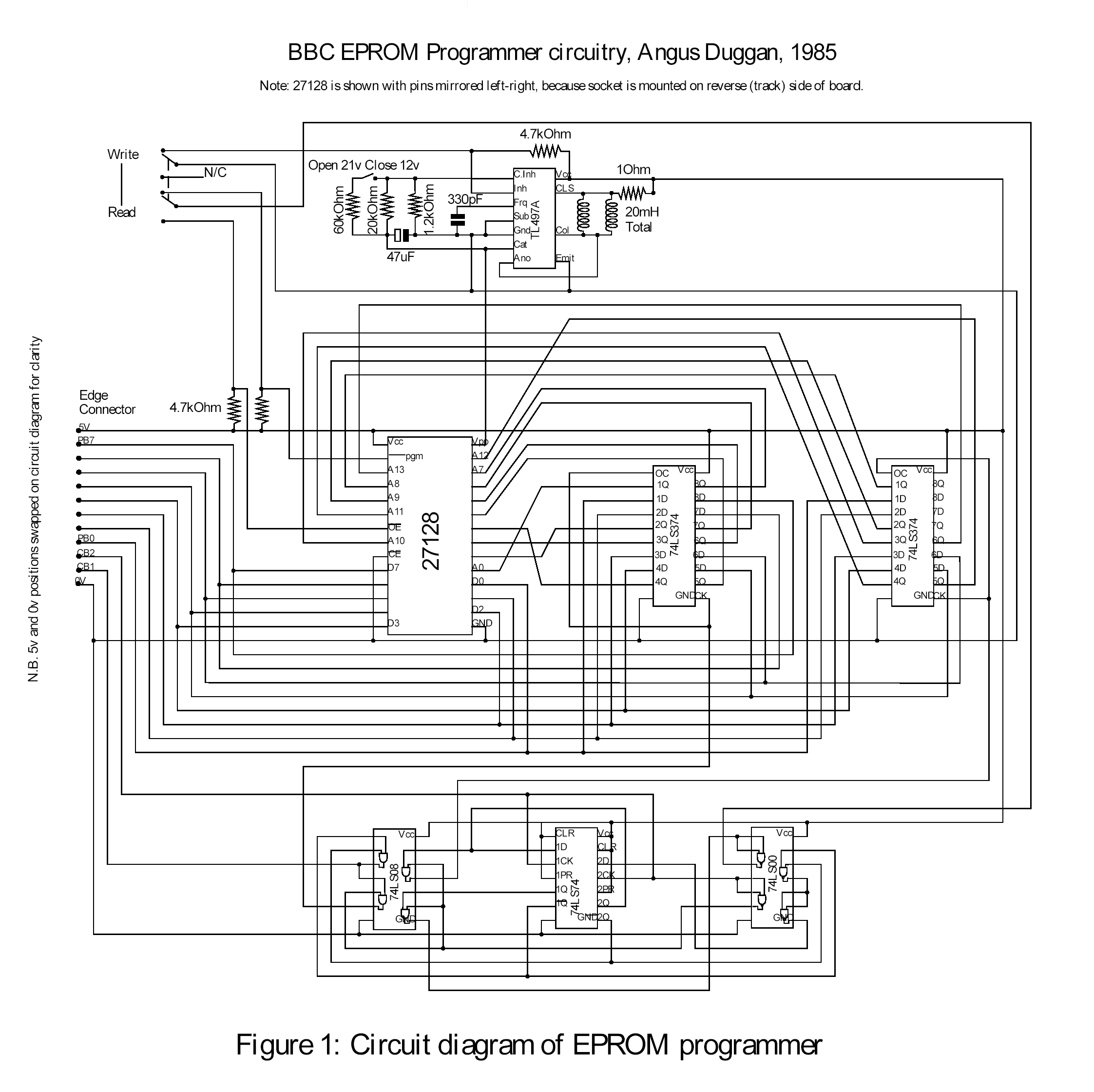 eprom programmer by angus duggan rh 8bs com eprom programmer schematic diagram simple eeprom programmer circuit diagram